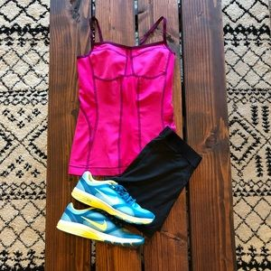 「North Face」Pink Athletic Tank Top